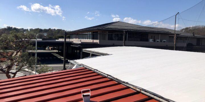 立川国際カントリー 屋根塗装工事 鉄部塗装