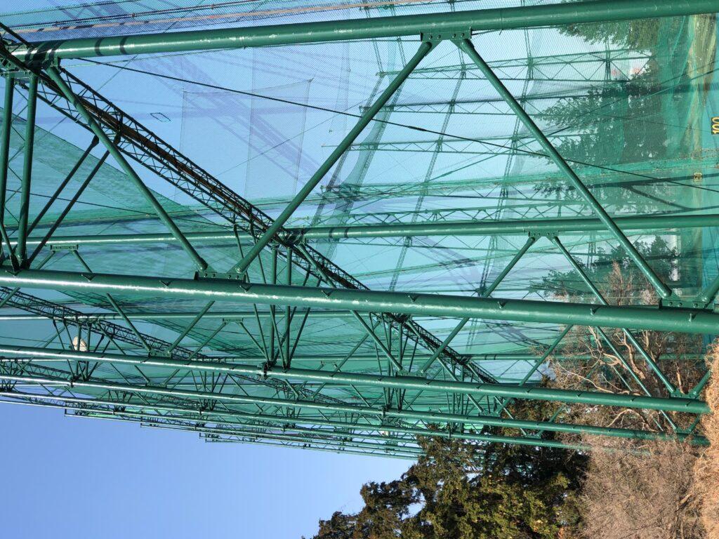 日高レインジゴルフ鉄塔塗装